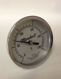 Bimetallic-Industrial-Thermometer-0-250F-3-034-Dial-2-5-034-Stem-1-2-034-NPT-CB