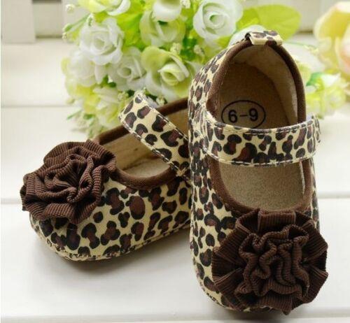 Newborn Baby Toddler Girls Shoes Pre walker Pram Crib Soft Sole 0-12M
