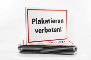 Affiches Interdit! Blanc Bouclier 3 Mm Alu-composites Résistant Aux Intempéries-afficher Le Titre D'origine RéSistance Au Froissement