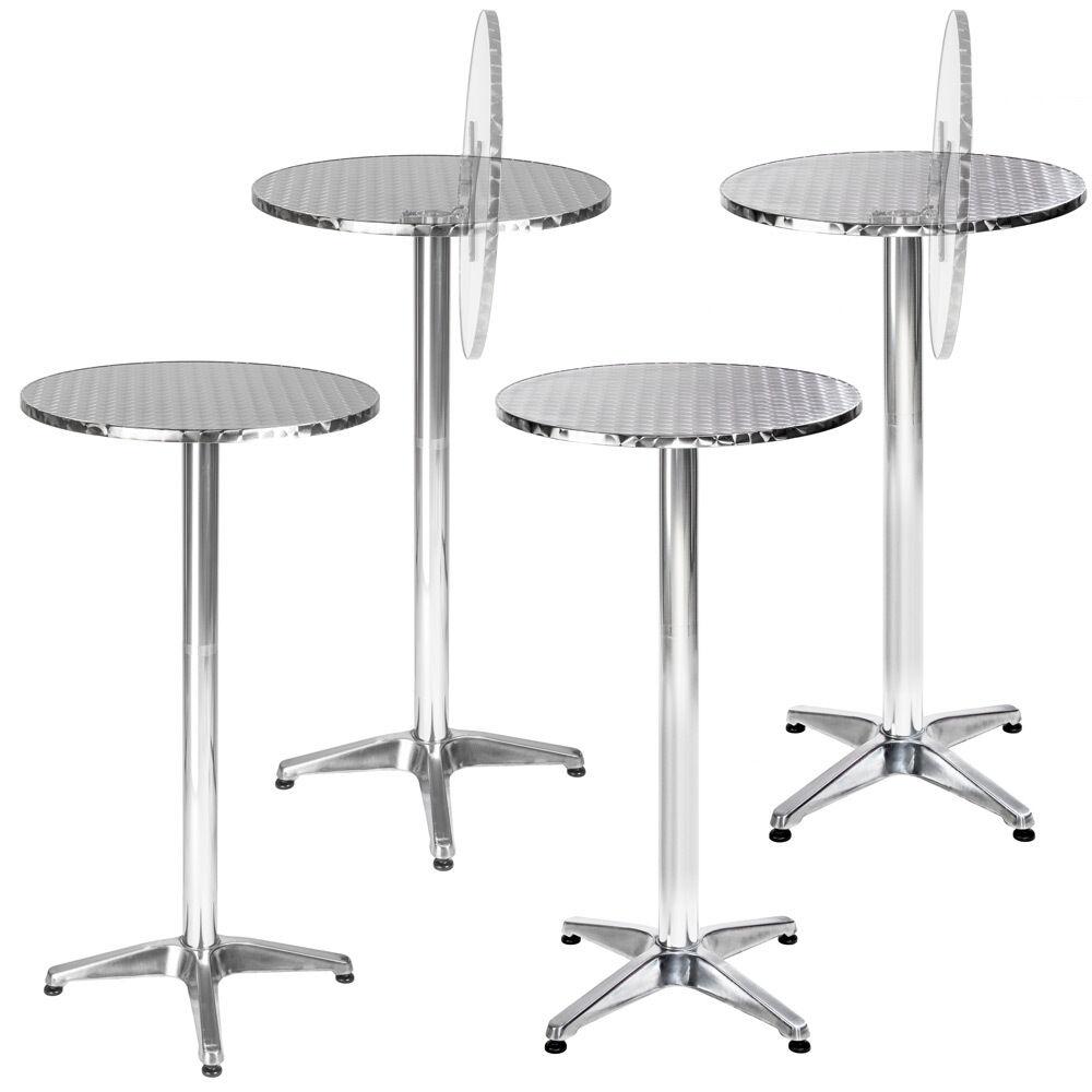 Table haute de bar aluminium bistrojo restaurant jardin Ø 60cm hauteur réglable