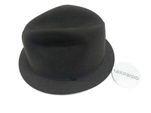 comment acheter promotion conception de la variété Détails sur Barbisio Chapeau Homme Modèle Pliant en Feutre Gris-Brun Made  In Italy