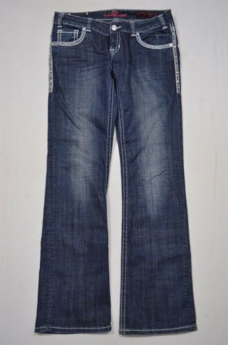 Rock Mørke Jeans Rise 30 Cowgirl Low Roll Denim Boot X 34 vask Cut Stitching rnqzrCwO