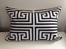 Greek Key Black and White Pillow Cover Geometric
