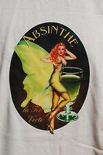 graphic retro art vintage mens Cotton T Shirt , S,M,L,XL , Absynthe
