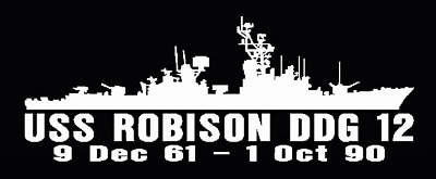 USS ROBISON DDG 12 Silhouette Decal U S Navy USN Military