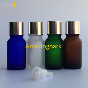 Wholesale 1 3 Oz 10ml Frosted Glass Dropper Bottles