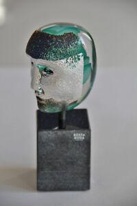Kosta-Boda-Bertil-Vallien-Brain-on-stone-green-limited-Edition-sign-amp-num