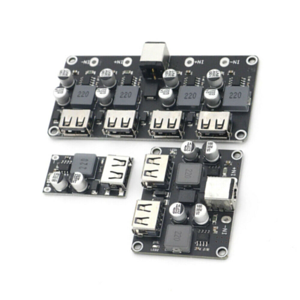 1Pcs 24W USB QC 3.0 Fast Charge Step-down Buck Module Power 12V 24V DC Input