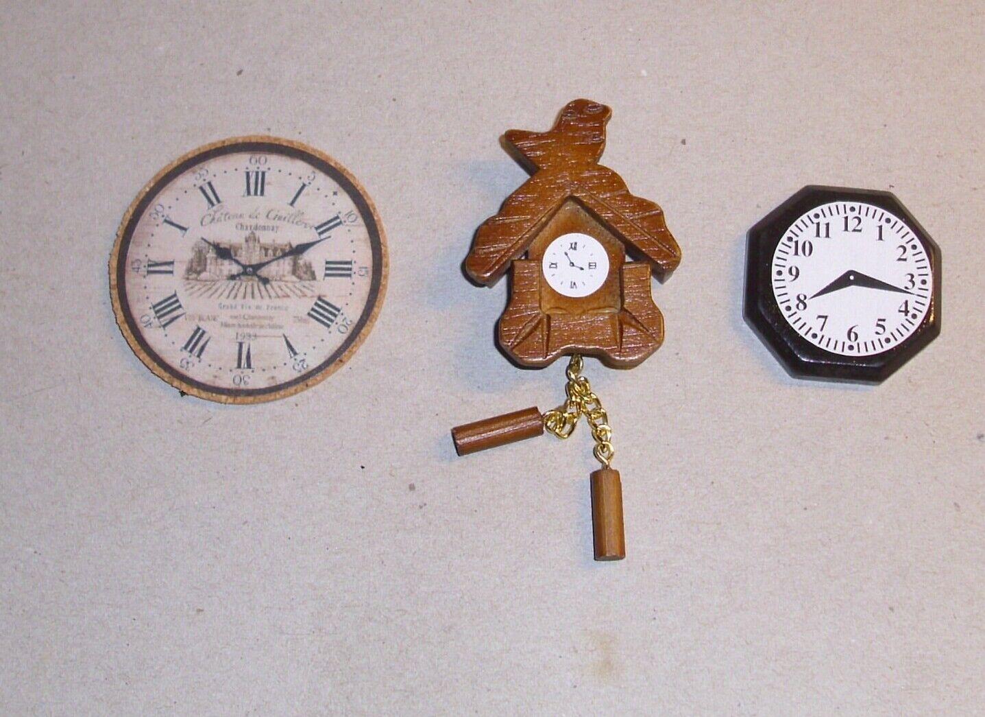 Tre Diversi orologi CUCINA SOGGIORNO assortimento miniatura 4 1 1 1 12 420f2a
