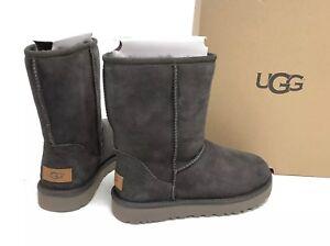 35aa32f34ae Details about UGG Australia CLASSIC SHORT II 2 1016223 Black Olive 6  Women's Boots Sheepskin