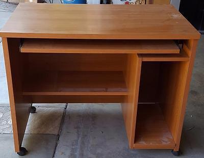 Great Gently Compressed Wood Veneer Computer Desk Gd Condition Nice Ebay