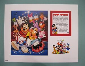 Disney-Characters-11-034-x-14-034-034-Movie-Matinee-034-Lithograph-Print