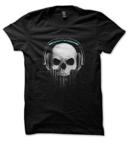 Tee Shirt Skull DeeJay tête de mort DJ