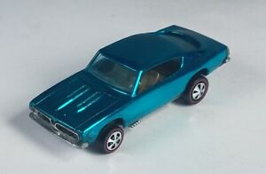 Restored Hot Wheels Redline - 1968 - Custom Barracuda - Aqua