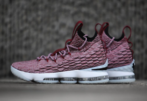8ddc3a986eabe8 Nike LeBron 15 XV EP QS PRM Wine Red Size 9. 897649-201 Rare! Asia ...
