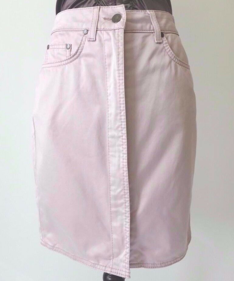 BOSS HUGO BOSS  Size XS - S   Skirt Pink Cotton Zip Front Mini