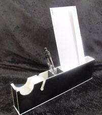 Lucite Black And White Tape Dispenser Desktop Organizer Ultra Cool