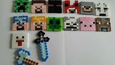 Birthday party favors inspired by Minecraft keychains or necklaces  (12)