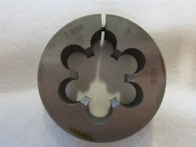 """#12-24 UNC Thread Adjustable Round Die 1/"""" Outside Diameter High Speed Steel"""