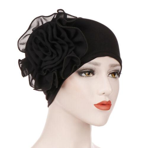 Women Elastic Flower Cancer Chemo Caps Headscarf Turban Hat Hair Loss Head Wrap