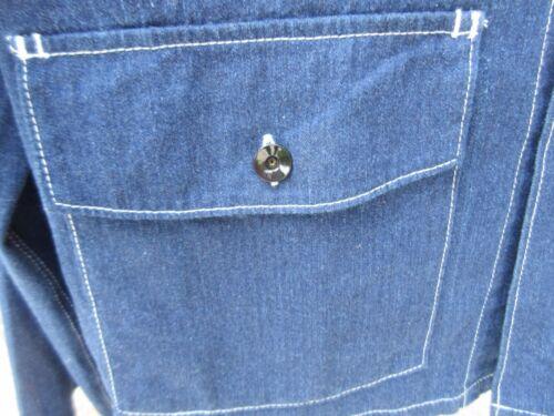 Vintage 60/'s Lions Drag Strip Memorial Jeans Jacket Raw Denim Hot Rod Rockabilly