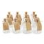 thumbnail 1 - Set of 12 Mini Glass Bottles Perfect for Wedding Favours & Decoration M&W