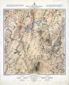 1876-of-Battle-of-Gettysburg-shows-three-days-SET-of-THREE-MAP-POSTERS-11605