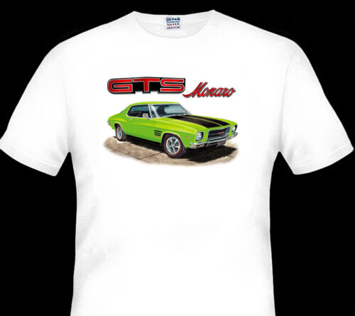 12 CAR COLOURS BIG FIT HOLDEN  HQ GTS MONARO COUPE  QUALITY  WHITE TSHIRT