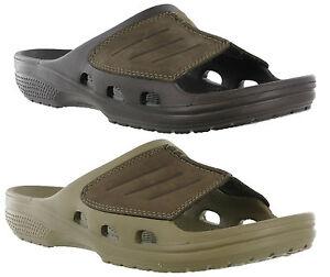 0b5bebf754bc Image is loading Crocs-Yukon-Mesa-Slide-Walking-Comfort-Leather-Uppers-