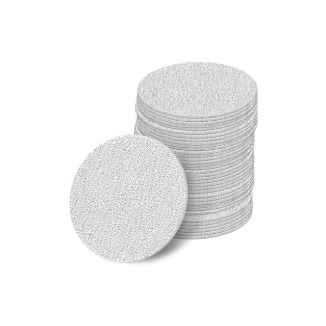 10 STÜCK 115 mm Schleifscheiben 36-1000 Exzenter Schleifpapier Klett haft rot