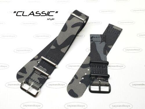JaysAndKays® Black MCam Multi Camo Nylon Strap 20mm 22mm 24mm MCamo