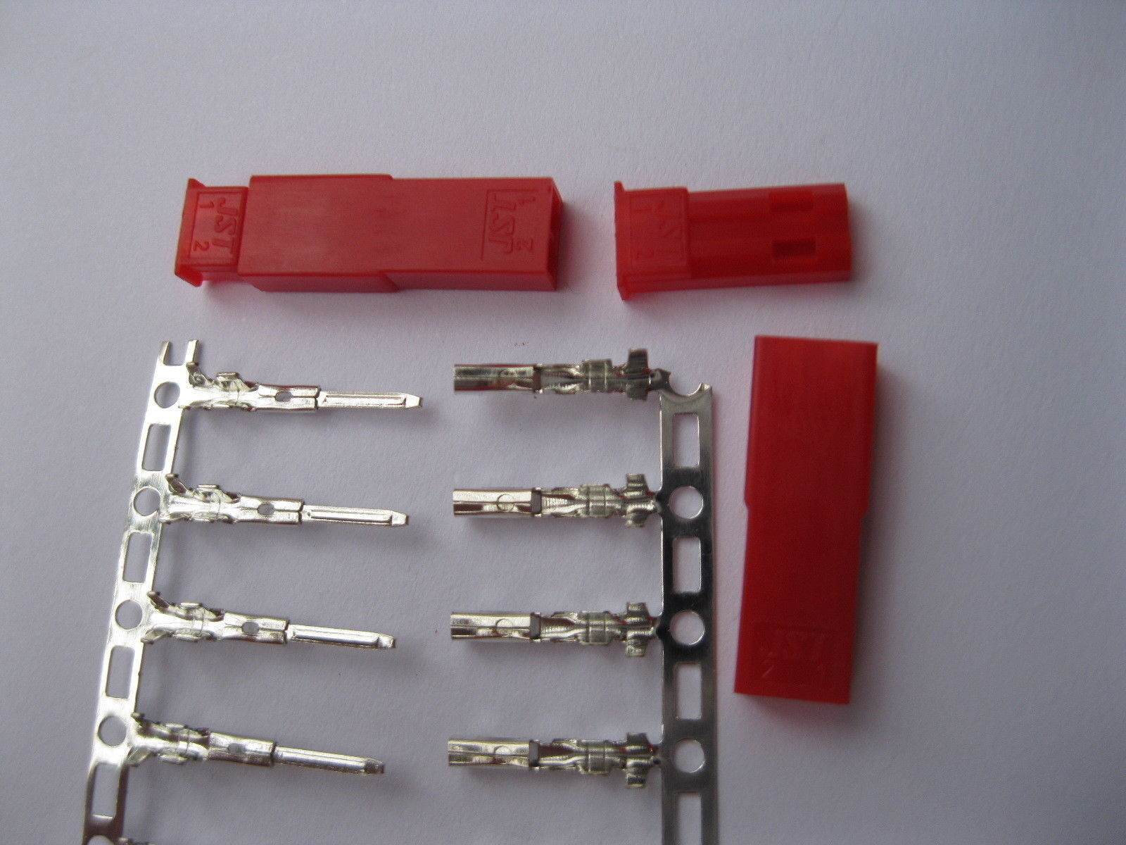 1500 Set JST 2 Pin Female & Male rosso Color Housing & Pin Connector