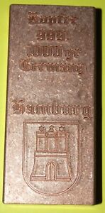 Kupfer-Teil-Karge-1kg-mit-Motiv-034-Hamburg-034-Matt-schattiert-I-II