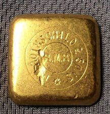 NM Rothschild & Sons 50 gram GOLD bar square MATTE finish VERY RARE bank ounce