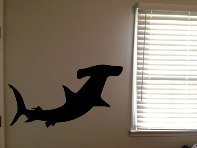 Huge Hammerhead Shark Ocean Beach Animal Vinyl Wall Art Removable Decal Sticker