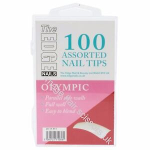 The-Edge-OLYMPIC-Nail-Tips-100-Assorted-Nails-Tips-Mixed-Sizes-Easy-To-Blend