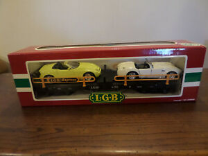 Lgb 4159 Railcar 2 Cars Load Flatcar / Wagon Lgb 4159 Porte-voitures Double