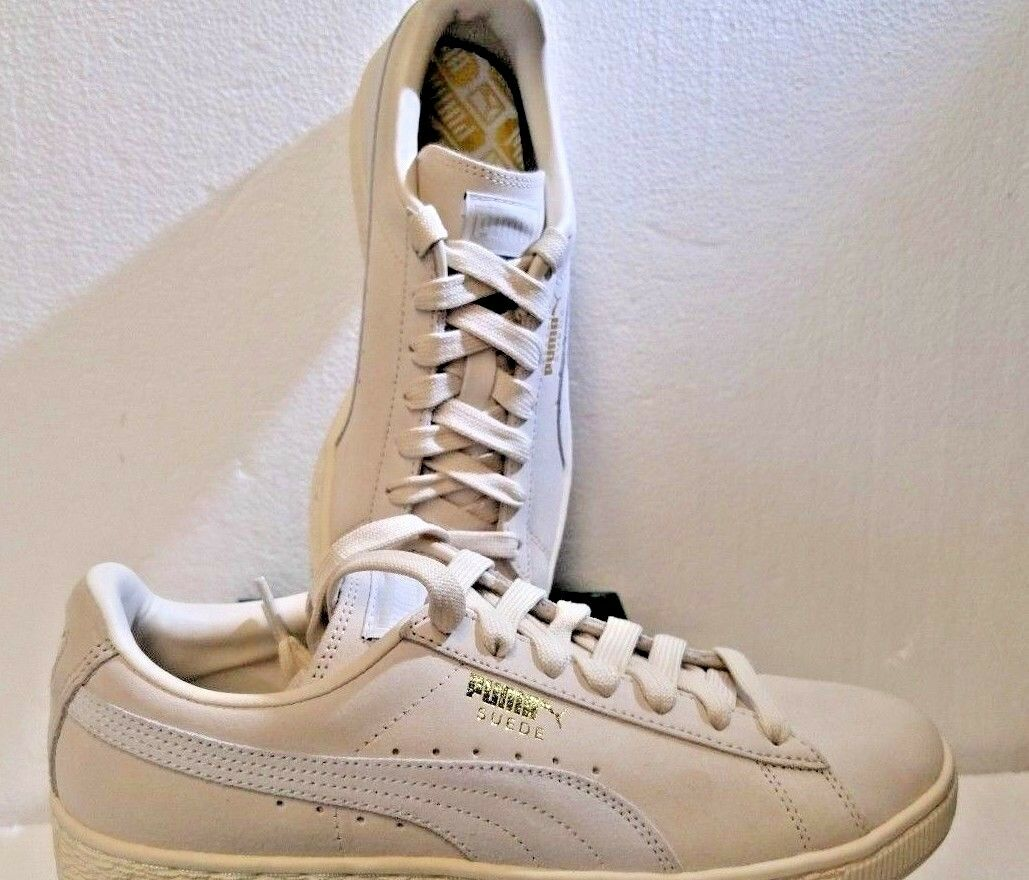 PUMA 36324229, Suede Classic Fashion Turnschuhe, 7.5 US, Birch-Puma Weiß, NEW