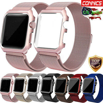 Milanese Stainless Steel Iwatch Band Strap Cover Case Apple Watch Series 5 4 3 2 Ebay