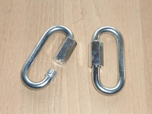 Kettennotglied 8mm Stahl verzinkt Schraubglied Kettenglied 420daN 10St
