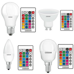 osram led toile couleur changeante ampoules rgbw t l commande variation ebay. Black Bedroom Furniture Sets. Home Design Ideas