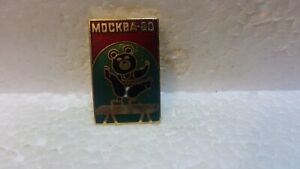 Official-1980-Summer-Olympic-Games-Bear-Doing-Gymnastics-Collectible-Pin-pin3700