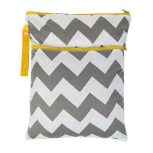 Wet-Dry-Diaper-Bags-Washable-Stripe-Nappy-Bag-Stroller-Accessory-Grey-A-S