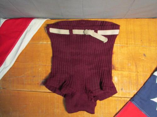 Vintage 1930s BVD Knit Wool Swimsuit Bathing Suit