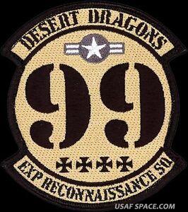 U-2 DRAGON LADY ORIGINAL DESERT PATCH USAF 99th EXPEDITIONARY RECONNAISSANCE SQ