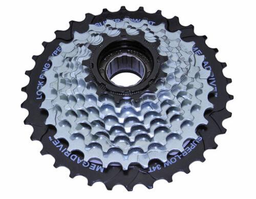 8 Speed Multiple Freewheels 13//34t Index MFM-56 Zinc//Black Sun Race