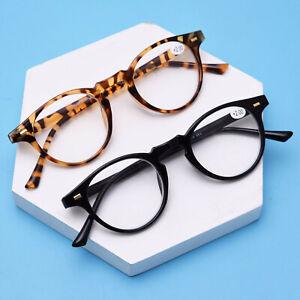 380d61490b5fd Vintage Retro PC Full-rim Round Reading glasses for reader Black ...