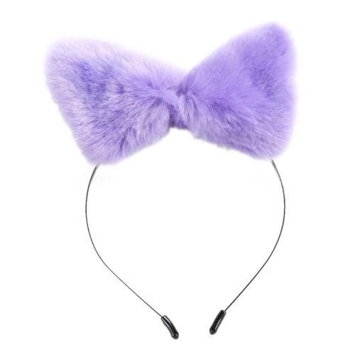 Women Headbands Plush Fox Ear Headband Headwrap Plush Cat Ears Hair Accessories