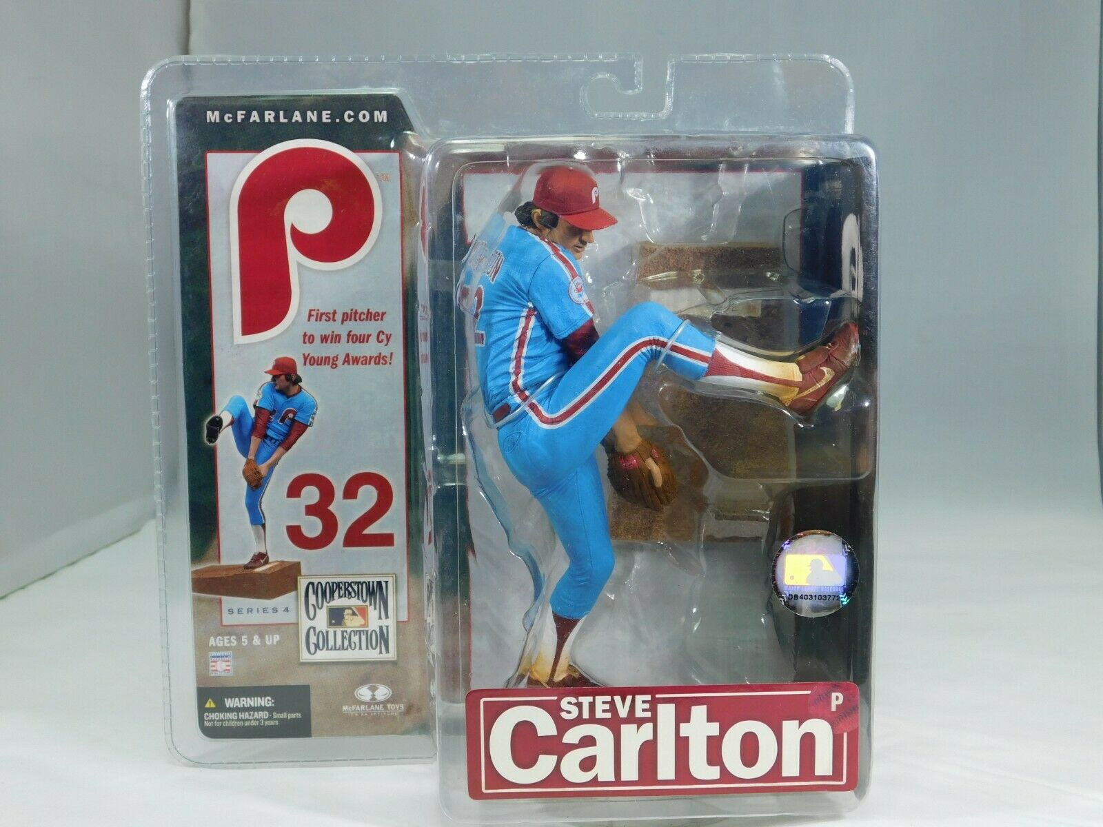 McFarlane Toys Steve Carlton Baseball Figurine Cooperstown Collection 2007 New