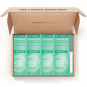 Harmless-Cigarette-Quit-Smoking-Aid-Fresh-Mint-Flavored-4-Pack